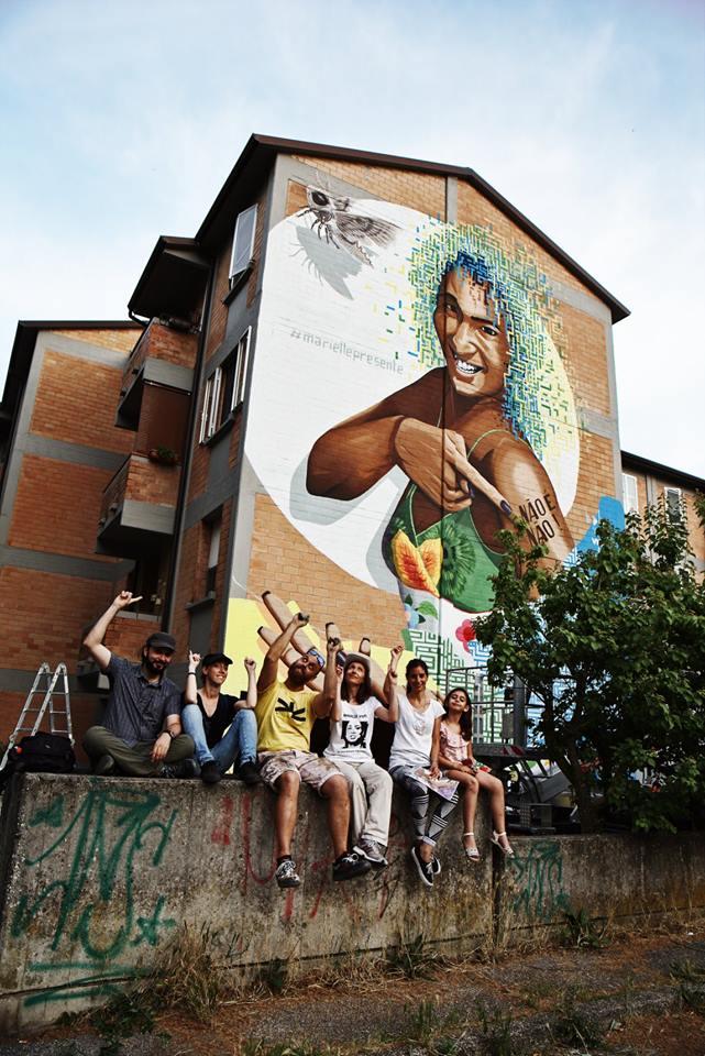 "Alessio Bolo, ""#mariellevive"" per Aidél Sentieri Multimediali, quartiere Krasnodar, Ferrara 2018"