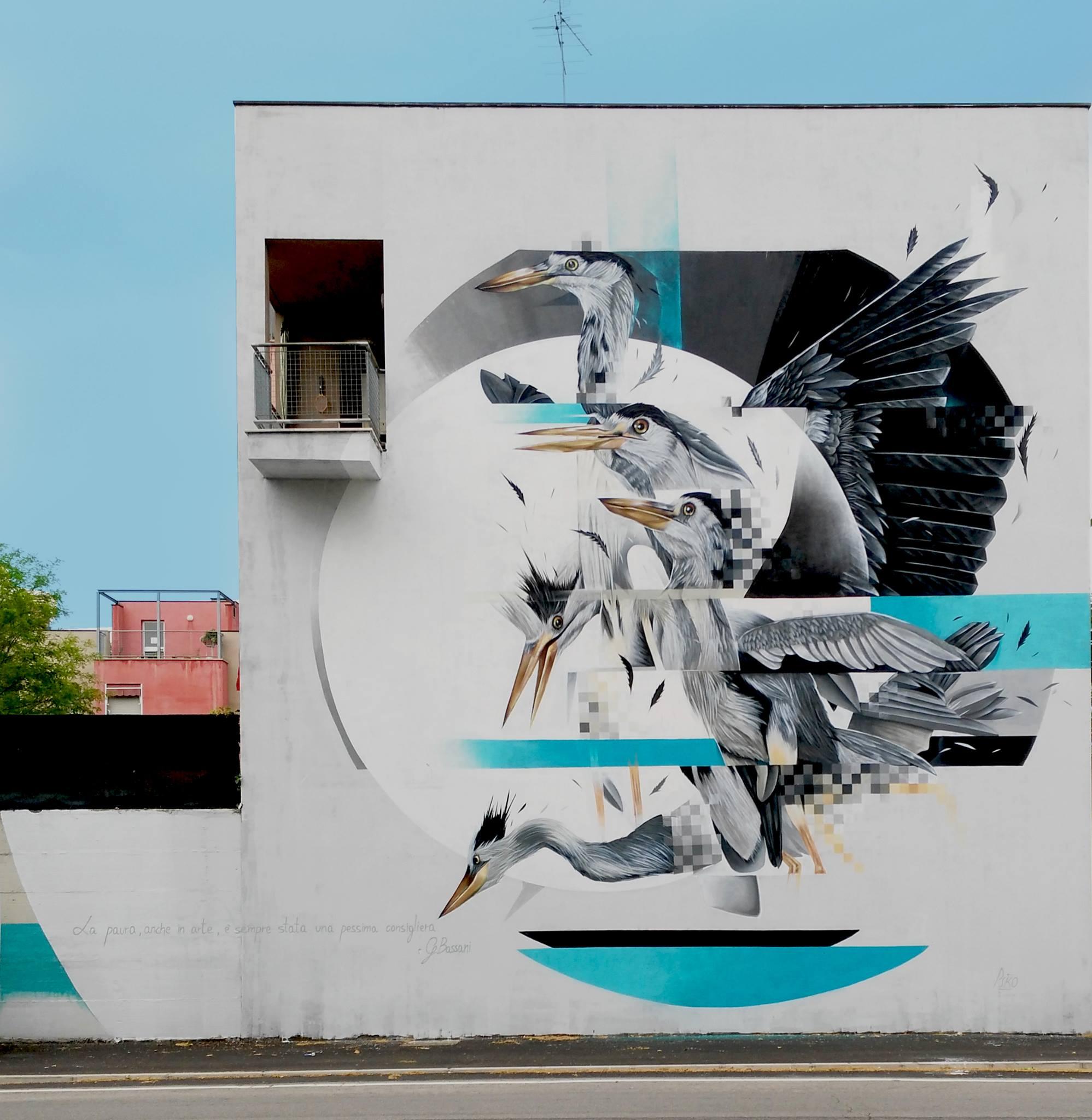 Paolo Psiko per progetto Habitat, quartiere Barco, Ferrara 2017